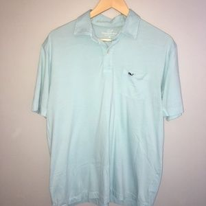 Vineyard Vine Solid Mint Green Polo Style Shirt